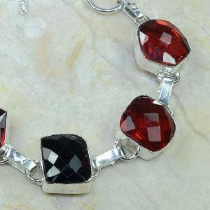 Gr 0035b bracelet grenat argent 925 achat vente bijou