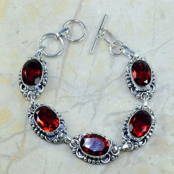 Gr 0037a bracelet grenat argent 925 achat vente bijou