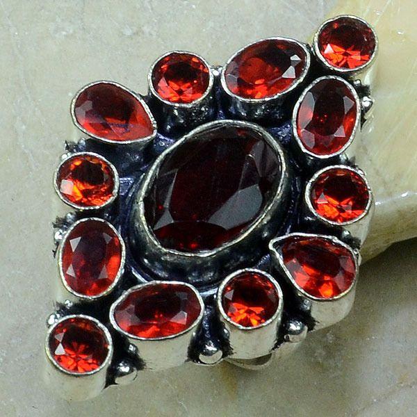 Gr 0041a bague medievale grenat achat vente bijou argent 925