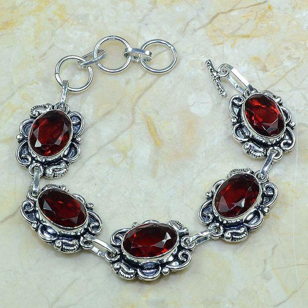 Gr 0043a bracelet grenat argent 925 achat vente bijou
