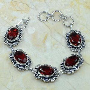 Gr 0043c bracelet grenat argent 925 achat vente bijou