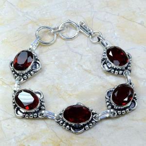 Gr 0044a bracelet grenat garnet argent 925 achat vente bijou