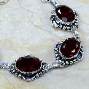 Gr 0044b bracelet grenat garnet argent 925 achat vente bijou