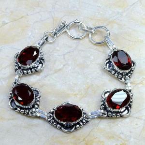 Gr 0044c bracelet grenat garnet argent 925 achat vente bijou