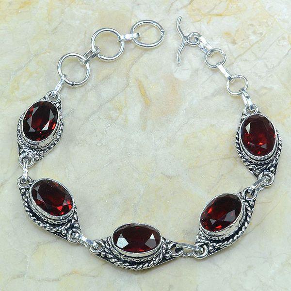 Gr 0045a bracelet grenat garnet argent 925 achat vente bijou