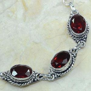 Gr 0045b bracelet grenat garnet argent 925 achat vente bijou