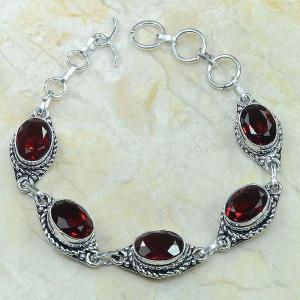 Gr 0045c bracelet grenat garnet argent 925 achat vente bijou