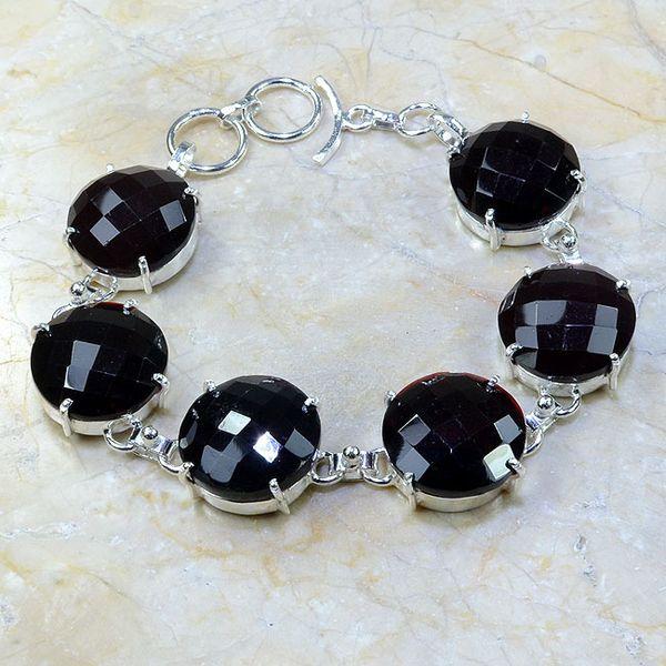Gr 0054a bracelet grenat argent 925 achat vente bijou