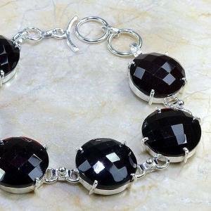 Gr 0054b bracelet grenat argent 925 achat vente bijou