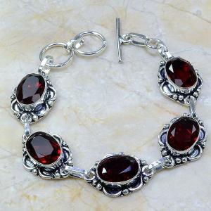 Gr 0055a bracelet grenat argent 925 achat vente bijou