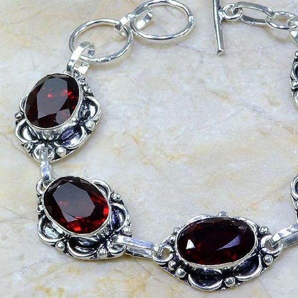 Gr 0055b bracelet grenat argent 925 achat vente bijou