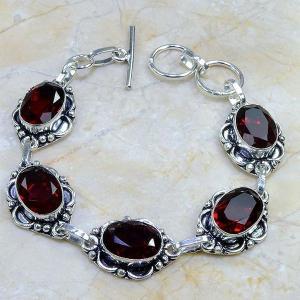 Gr 0055c bracelet grenat argent 925 achat vente bijou