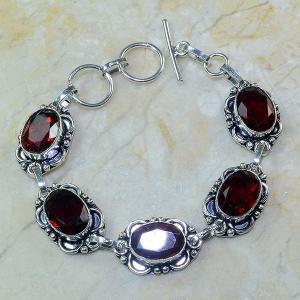 Gr 0057a bracelet grenat argent 925 achat vente bijou