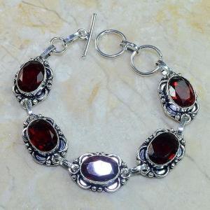 Gr 0057c bracelet grenat argent 925 achat vente bijou