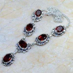 Gr 0063a collier parure sautoir grenat bijou argent 925 achat vente bijou