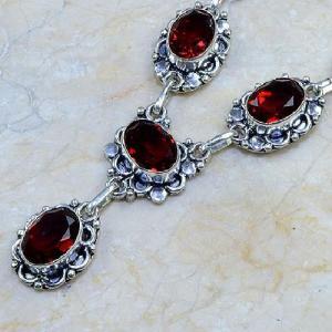 Gr 0063c collier parure sautoir grenat bijou argent 925 achat vente bijou