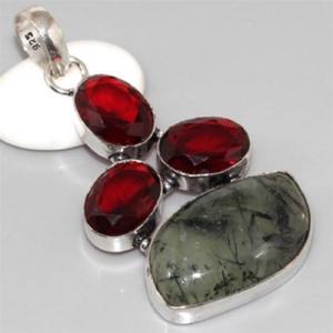 Gr 0072a pendant pendentif grenat garnet argent 925 achat vente bijou