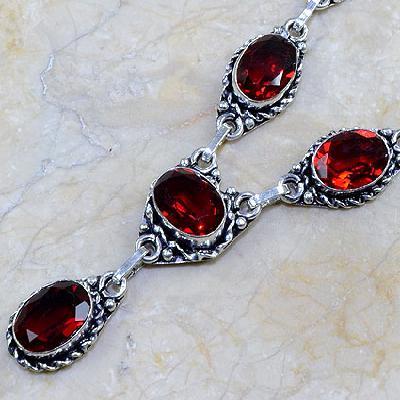 Gr 0074b pendant pendentif grenat garnet argent 925 achat vente bijou