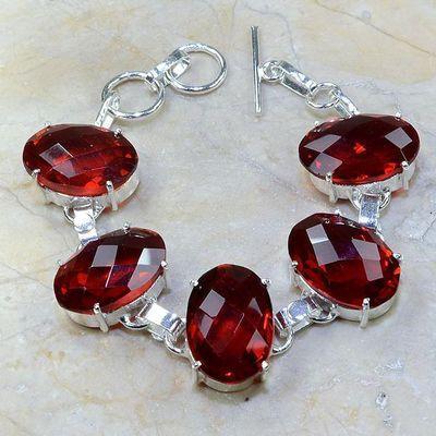 Gr 0076a bracelet grenat garnet argent 925 achat vente bijou