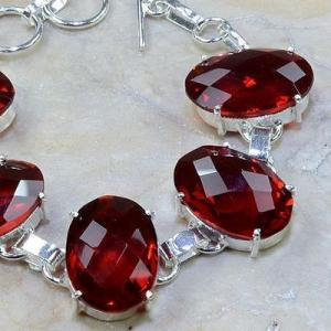 Gr 0076c bracelet grenat garnet argent 925 achat vente bijou