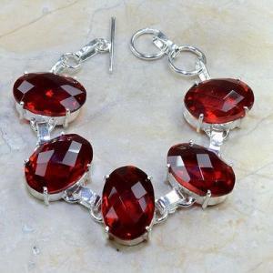 Gr 0076d bracelet grenat garnet argent 925 achat vente bijou