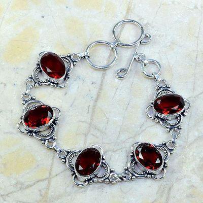 Gr 0079a bracelet grenat garnet argent 925 achat vente bijou