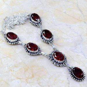 Gr 0081a collier parure sautoir grenat bijou argent 925 achat vente bijou