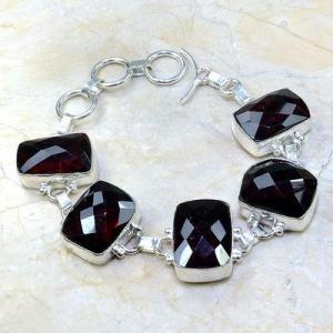Gr 0084a bracelet grenat garnet argent 925 achat vente bijou