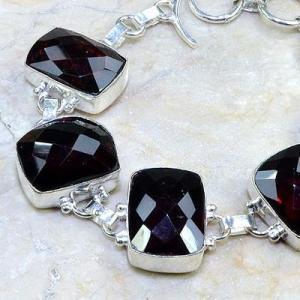 Gr 0084b bracelet grenat garnet argent 925 achat vente bijou