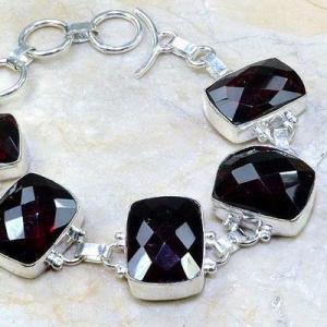 Gr 0084c bracelet grenat garnet argent 925 achat vente bijou