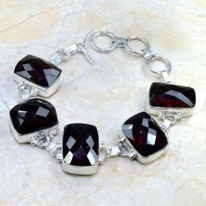 Gr 0084d bracelet grenat garnet argent 925 achat vente bijou