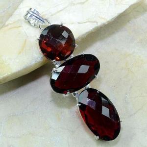 Gr 0087a pendant pendentif grenat garnet argent 925 achat vente bijou