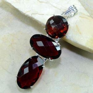 Gr 0087b pendant pendentif grenat garnet argent 925 achat vente bijou