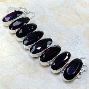 Gr 0088a bracelet grenat garnet argent 925 achat vente bijou
