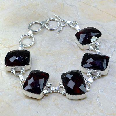 Gr 0089a bracelet grenat garnet argent 925 achat vente bijou
