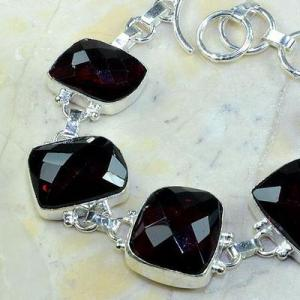 Gr 0089b bracelet grenat garnet argent 925 achat vente bijou