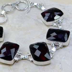 Gr 0089c bracelet grenat garnet argent 925 achat vente bijou