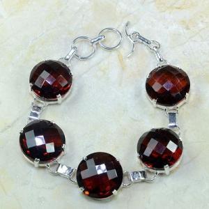 Gr 0092a bracelet grenat garnet argent 925 achat vente bijou 1