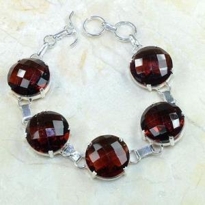 Gr 0092b bracelet grenat garnet argent 925 achat vente bijou 1