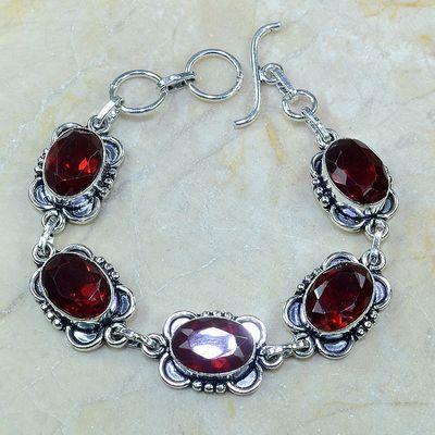 Gr 0096a bracelet grenat garnet argent 925 achat vente bijou 1