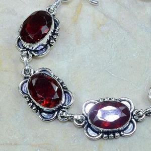 Gr 0096b bracelet grenat garnet argent 925 achat vente bijou