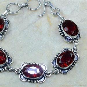 Gr 0096c bracelet grenat garnet argent 925 achat vente bijou