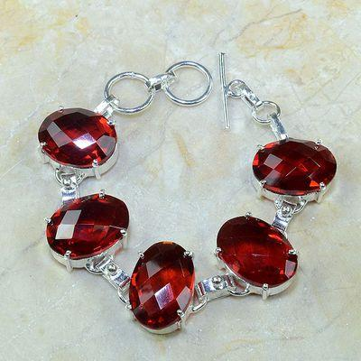 Gr 0101a bracelet grenat garnet argent 925 achat vente bijou