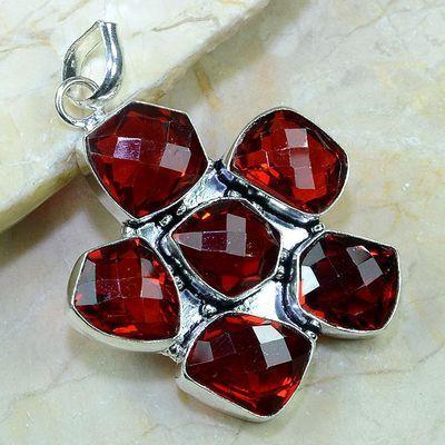 Gr 0155a pendant pendentif grenat garnet pierre gemme argent 925 achat vente bijou