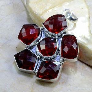 Gr 0155b pendant pendentif grenat garnet pierre gemme argent 925 achat vente bijou