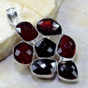 Gr 0158a pendant pendentif grenat garnet pierre gemme argent 925 achat vente bijou