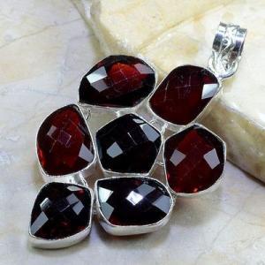 Gr 0158b pendant pendentif grenat garnet pierre gemme argent 925 achat vente bijou