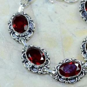 Gr 0159b bracelet grenat garnet argent 925 achat vente bijou