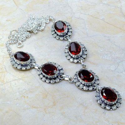 Gr 0160a collier parure sautoir grenat bijoux argent 925 achat vente bijou