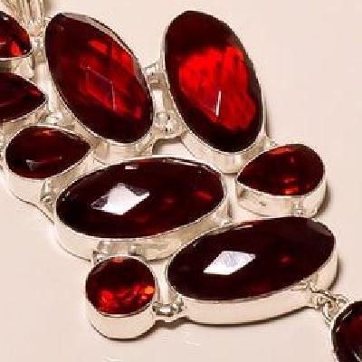 Gr 0165c pendant pendentif grenat garnet pierre gemme argent 925 achat vente bijou